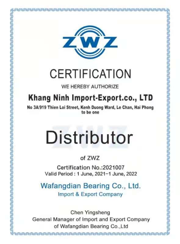 Khang Ninh nhận chứng chỉ đại diện ZWZ tại Việt Nam